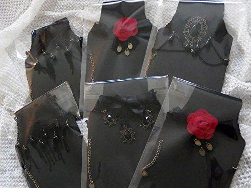 『一瞬で雰囲気を変える ゴスロリ チョーカー コスプレ ゴスロリ系 ファッションに (黒宝石&十字架)』の2枚目の画像