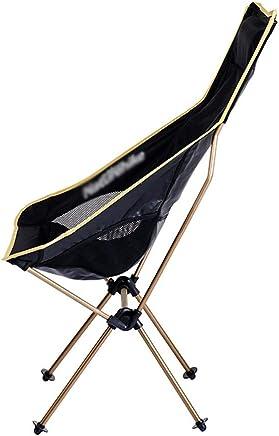 Outdoor Klappstuhl Leichte Rückenlehne Stuhl Strand Angeln Klappstuhl Aluminiumlegierung Tragbarer Tragbarer Tragbarer Hocker Schwarz 104 × 44 × 58 cm GW (Farbe   Champagne Gold) B07P9J1BNL   Zu einem niedrigeren Preis  0774bf