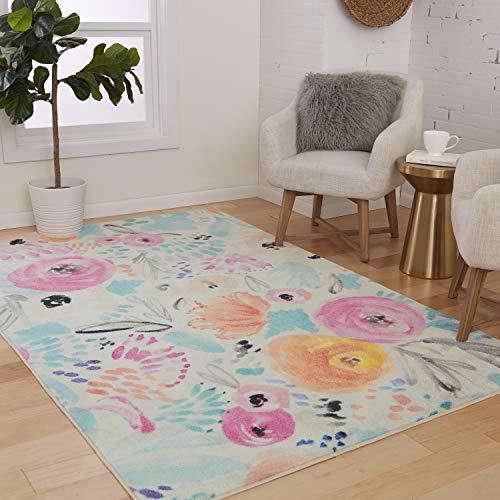 Mohawk Home Watercolor Floral Multi Area Rug, 5'x8'