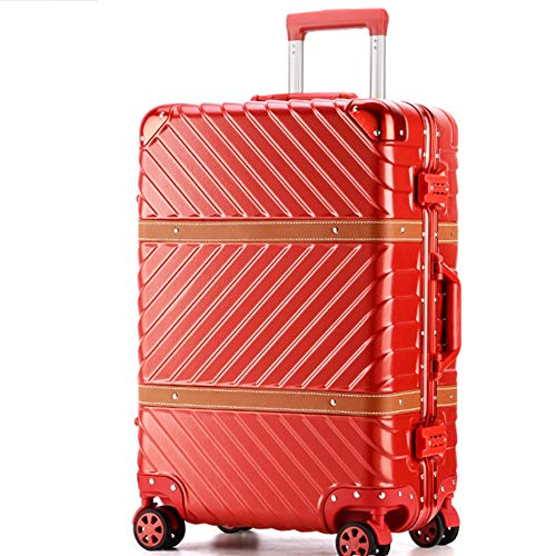 yaunli Checked luggage 20 Inch 24 Inch 29 Inch Portable Carry On Luggage Suitcase Spinner Hardshell Trolley Suitcase With Spinner Wheels Business Travel Bag Aluminum Frame Travel checked luggage