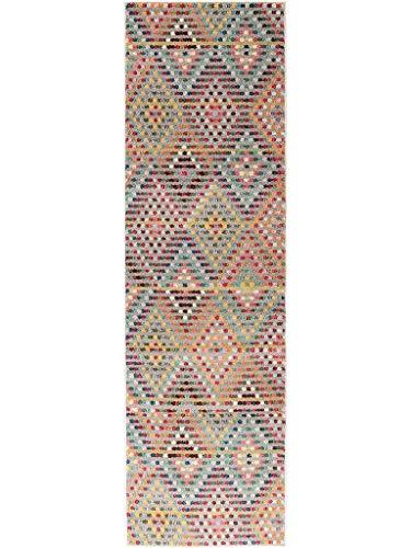 benuta Alfombra de Pasillo Casa Multicolor 70x 240cm   Moderna Alfombra para salón y Dormitorio
