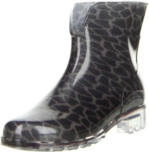 G&G Damen Gummistiefel Stiefeletten Regenschuhe Leopardenmuster, Größe:38, Farbe:Mehrfarbig