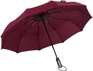 YWSCXMY-AU Windproof Double Sunshade Reflective Folding Umbrella UV Protection Umbrella Men and Women Sunshade Umbrella (Color : Clear)