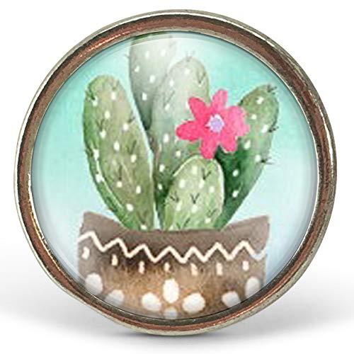 """Ring cabochon\""""The Kaktus\"""", Weihnachtsgeschenk für Frauen - Valentinstag - Geburtstagsgeschenk - altes Silber (ref.63a) FBM"""