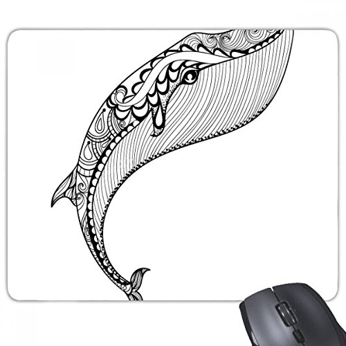 Blauwe walvis grote sterke anti-slip rubber muismat spel Office muismat Gift