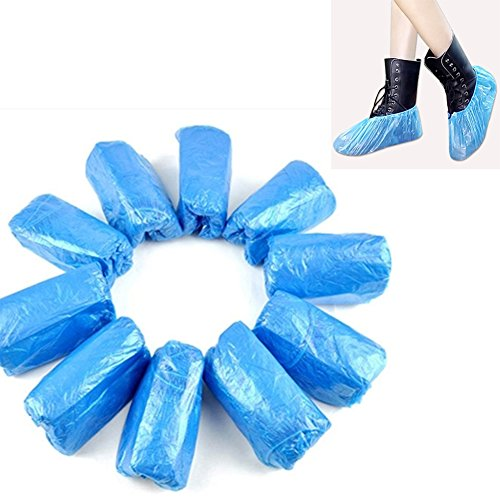 100 unidades desechables de plástico para zapatos de maletero, para limpieza de...