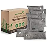 Bamboo Charcoal Air Purifying Bags (6 Pack) | Natural Charcoal Odor...