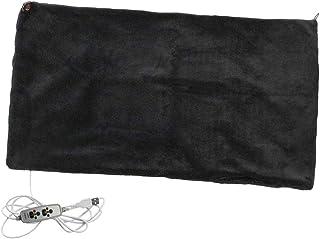 Baoblaze USB Heated Shawl Lap Blanket, USB Heated Plush Throw Alternative to an Office Desk Heater - Black