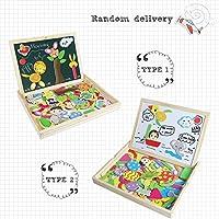 Puzzle Magnetico Legno Lavagna Magnetica Doppio Lato Puzzle di Legno Giochi Educativi per Bambini 3 4 5 Anni #1