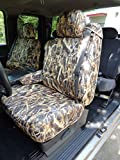 Durafit Seat Covers C991.Savanna Camo Seat Covers for Chevy Silverado, Suburban, Tahoe, GMC Sierra,Yukon Front Captain Chairs with Integrated Seat Belts and Dual Electric Controls