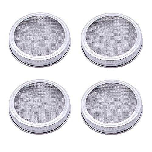 BESTOMZ Tapas para propagadores de Semillas (Plata) - 4 Piezas