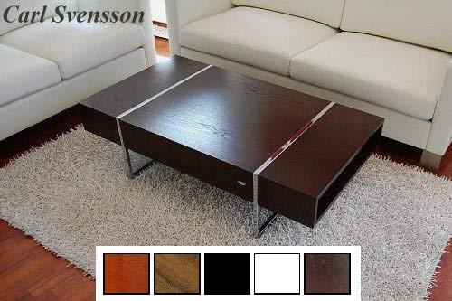 Carl Svensson Design Couchtisch Tisch Wohnzimmertisch N-111 Ablagefächer (Walnuss-Wenge)