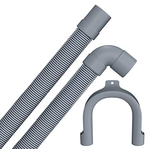 Tubo di scarico 1,5 m di ricambio per AEG 5028435400 per lavatrice con attacco da 19/22 mm, tubo di scarico per lavastoviglie
