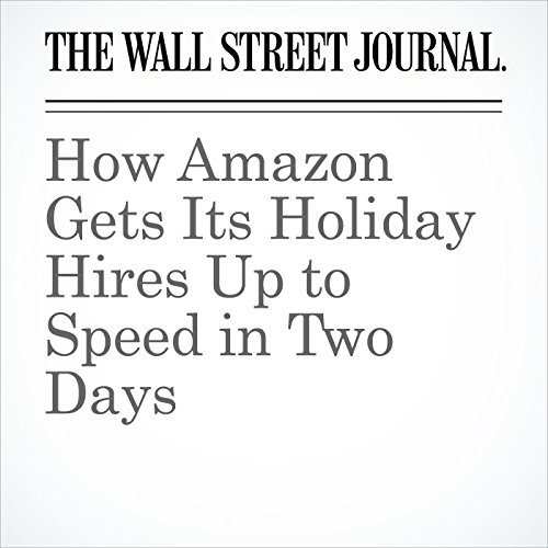 How Amazon Gets Its Holiday Hires Up to Speed in Two Days cover art