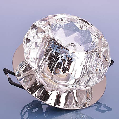 Glas Einbaustrahler mit G9 Fassung für 230V Deckenleuchte Deckenspot Spot Deckenstrahler Kristall Design 8