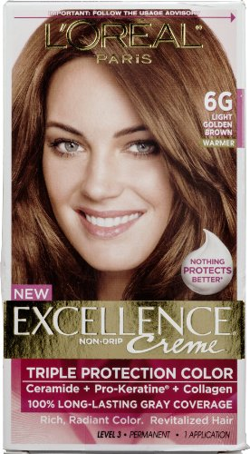L'oreal LOreal Excellence Triple Protection Permanent Hair Color Creme Light Golden Brown Warmer, Light Golden Brown Warmer 1 each (Pack of 3)