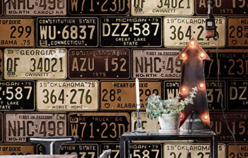 Número de matrícula personalizada alfabeto digital papel tapiz de es