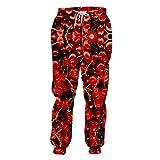 Pantalones de chándal de Cereza roja con Estampado Completo en 3D Pantalones Unisex Divertidos Pantalones de Frutas deliciosos para Hombres Cherry 4XL