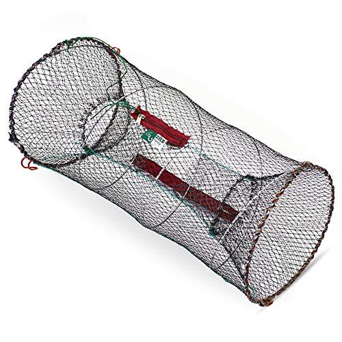 zite Fishing Nasse Rete da Pesca Pieghevole - per Pesce Aragosta Gamberetti Granchio - Rotondo e 30x60cm