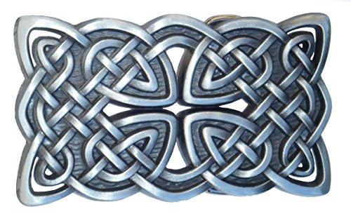 Spirit of Isis B108 Buckle Gürtelschnalle Vintage Celtic Knot, Weiß, 8,3cm x 4,8cm