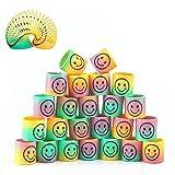 Herefun 24 Piezas Mini Juguetes de Muelle de Arco Iris, Mágico Colorido Muelles para Cumpleaños Regalos de Fiestas Infantiles, Rellenar Bolsas de Fiesta, Calcetines de Navidad Premios de Clase