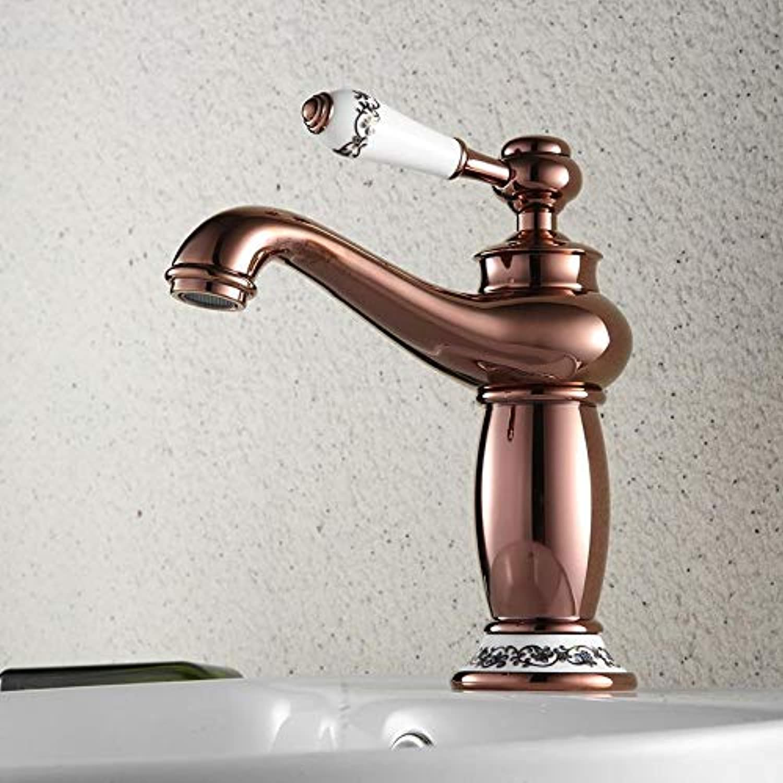 Wasserhahn Waschtischarmatur Kupfer Natürlicher Hahn Heier Und Kalter Antiker Waschtischmischer