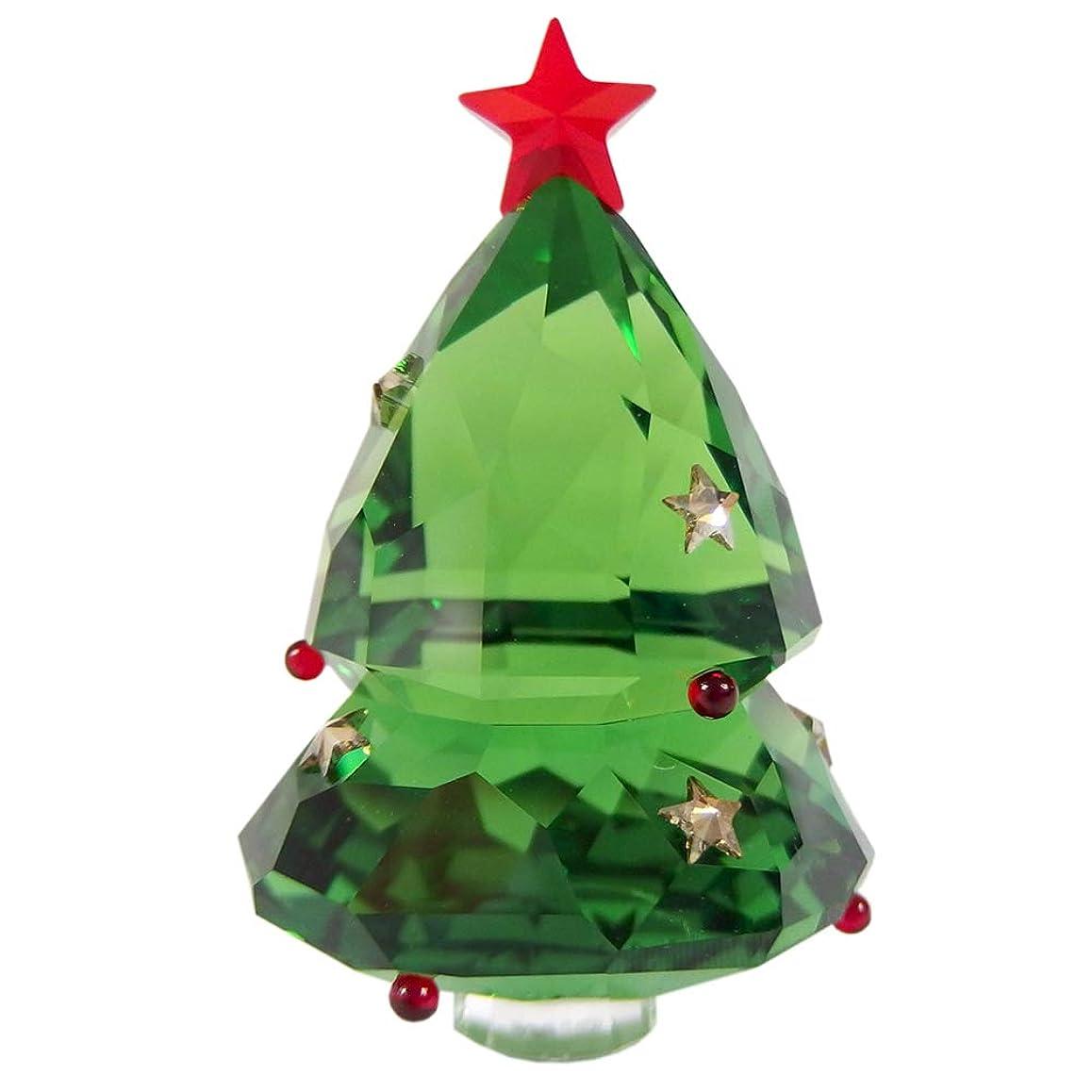 入場料アボート活力スワロフスキー SWAROVSKI クリスマスツリー GREEN グリーン 5464888 クリスマス 置物 [並行輸入品]