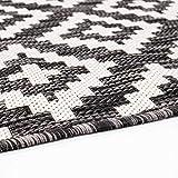 carpet city Outdoor-Teppich Wetterfest Balkon Terrasse Modern Geometrisches Muster in Anthrazit; Größe: 160x230 cm - 7