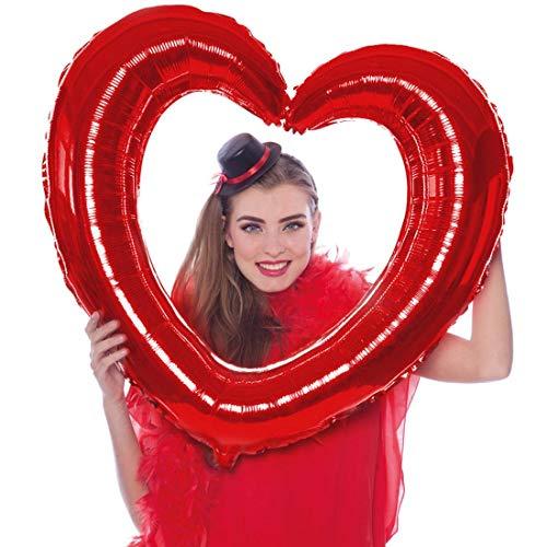 Amakando Brillante Globo en Forma de corazón para Compromiso / Rojo / Globo de Helio Grande para Fotobox / Insuperable para Matrimonio y Fiesta de Boda
