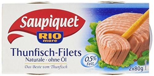 Saupiquet Thunfisch Filet Naturale ohne Öl, 10er Pack (10 x 160 g)