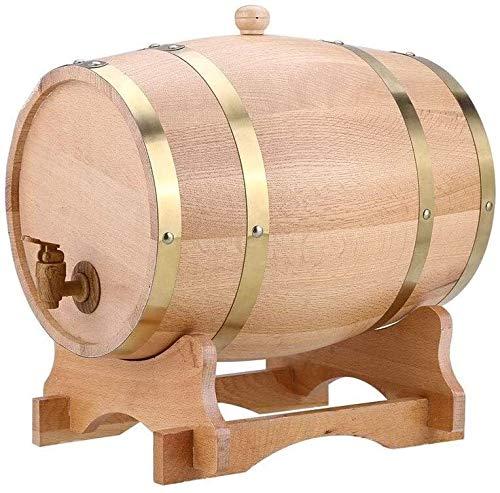 WYKDL Madera Madera 1,5 l / 3L / 5L / 10L de la Vendimia del Barril de Vino del dispensador de Cerveza Brandy Tequila Whisky Ron (Size : 5L)