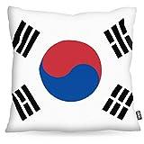 VOID Süd Korea Polyester Kissenbezug Flagge Fahne Fan-Kissen Kissenhülle Outdoor Indoor Bunt, Kissen Größe:50 x 50 cm