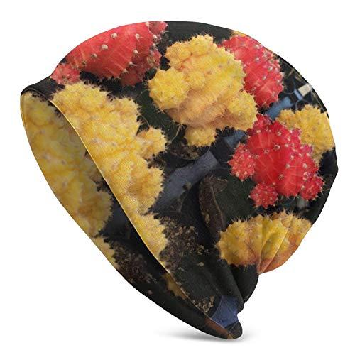 QUEMIN Baratos Cactus de Colores Lily Skull Cap Gorro elástico Gorras holgadas Sombreros de Moda de Punto de Invierno para Mujeres Hombres