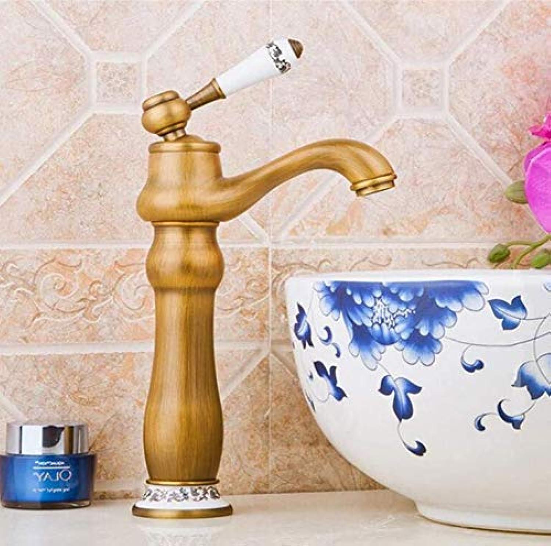 Retro Modern Kitchen Bathroom Retro Porcelain Handle Mixer Water Tap Ceramics Home Decoration Deck Mounted Sink Taps