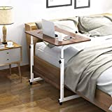 ZGYZ Overbed Table Adjustable Height Movable Bedside Table, Steel Frame and...