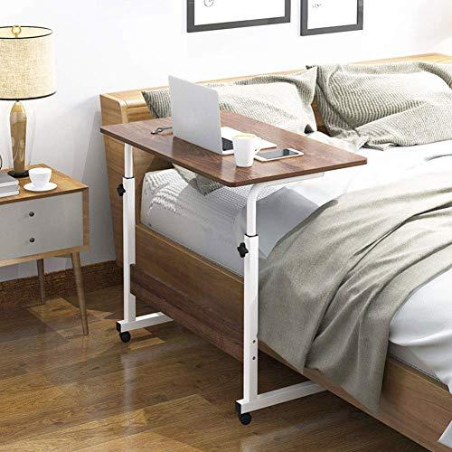 ZGYZ Regulowana wysokość stolika nadszafkowego, biurko do przechowywania wózka na kółkach z nadłóżkiem, ruchome kółka, przenośny notebook sofa szpital boczny (B, 60 x 40 cm)
