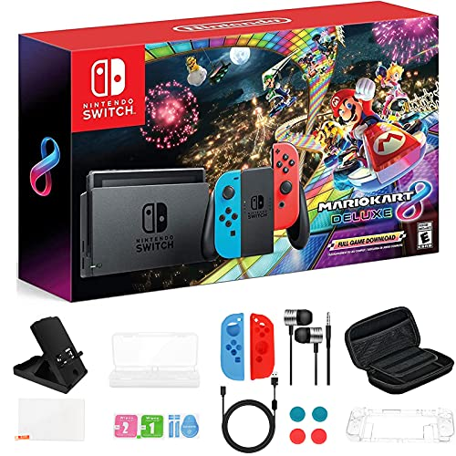Newest Nintendo Switch Console with Neon Blue and Neon...