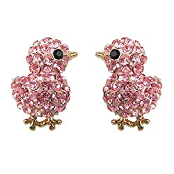 Pink baby chicken earrings are the perfect gifts for chicken lovers