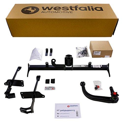 Westfalia Abnehmbare Anhängerkupplung - AHK für Fiat Panda (BJ ab 02/2012) im Set mit 13-poligem fahrzeugspezifischen Elektrosatz