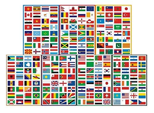 アロアーラ 世界 国旗 シール トラベル 旅行 ステッカー セット キャリーケース スーツケース
