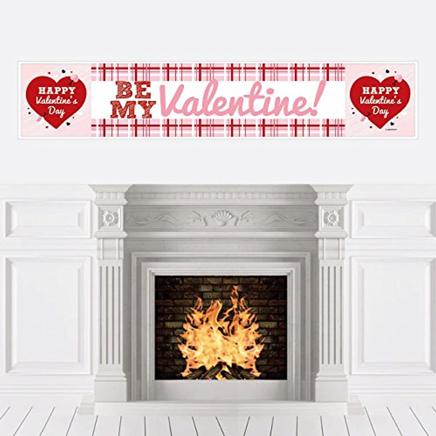 Big Dot of Happiness Conversation Hearts - Valentine's Day Party Decorations Party Banner