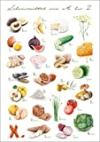 Poster 30 x 40 cm: Lebensmittel ABC von Nadine Conrad -