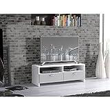 FINLANDEK Meuble TV HELPPO 95cm blanc et gris