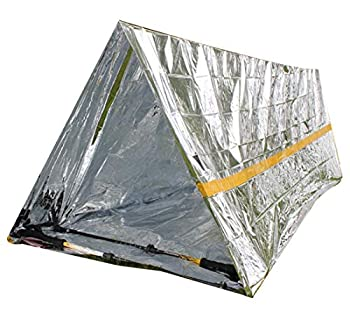 ZUZU Babe Tiny Survival Tent Insulation Tube Mylar Emergency Tents 2 Person Waterproof Emergency Shelter for Camping Hiking Backpacking Fishing Boating Hunting and Other Outdoor Activities