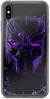 iPhone XR Pure Clear Anti-Shock Cases Black-Panther Glowing Mask King of Wakanda Africa Stan Lee Movie Shield Avengerss Comic Superhero