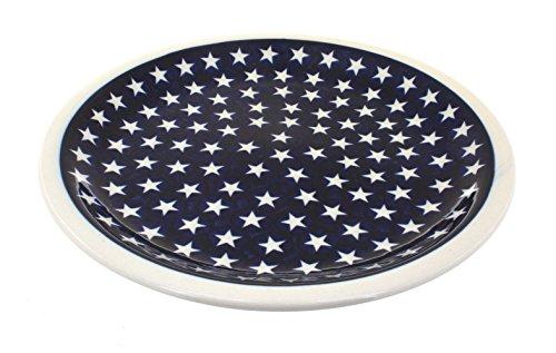 Blue Rose Polish Pottery Stars Dinner Plate