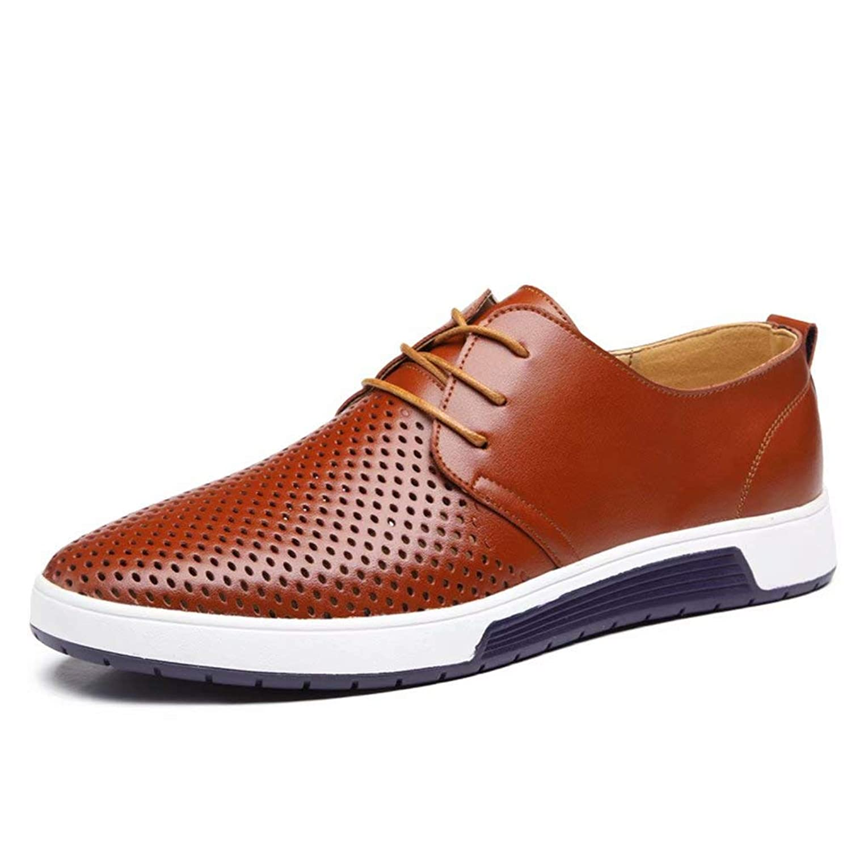 [Agogoo] カジュアルシューズ ビジネスシューズ 革靴 メンズ メッシュ 蒸れない 通気性 軽量 クッション性 通勤 普段用