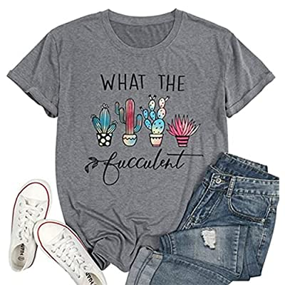 Amazon - 50% Off on Women Cute Graphic Funny Letter Printed T-Shirt Vacation Casual Style