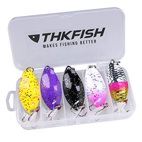 Cucchiaini da Pesca, Esche Artificiali da pesca per Trota, Persico, Luccio Spoon Kit 14g 5 pezzi (B)
