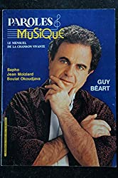 Paroles & Musique 1983 03 n° 28 GUY BEART SAPHO JEAN MOIZIARD BOULAT OKOUDJAVA